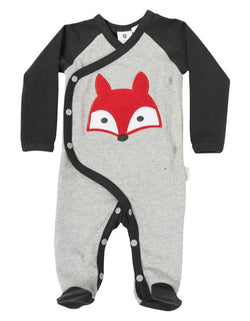 Mr Fox Long Sleeve Romper