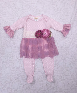 Ava Grace Skirty Footie Footies Haute Baby - Oma's Classic Children's Clothing