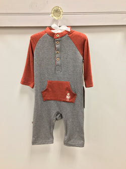 Color Block romper Romper Fore` Axel & Hudson - Oma's Classic Children's Clothing