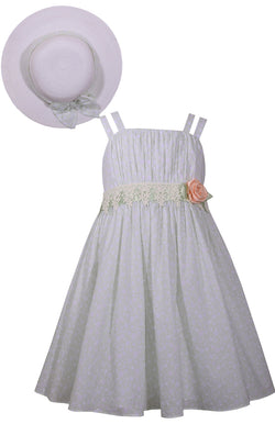 Emma Dress with Hat Dress Bonnie Jean - Oma's Classic Children's Clothing