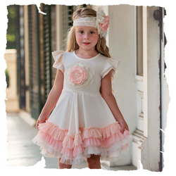Frilly Frocks Camilla Ruffle Dress Dress Haute Baby - Oma's Classic Children's Clothing
