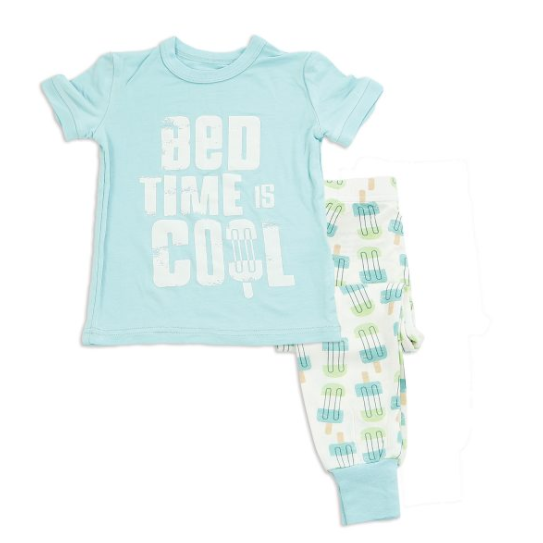 Bamboo 2 Piece Short Sleeve Pajama Set Sleepwear Silkberry Baby - Oma's Classic Children's Clothing