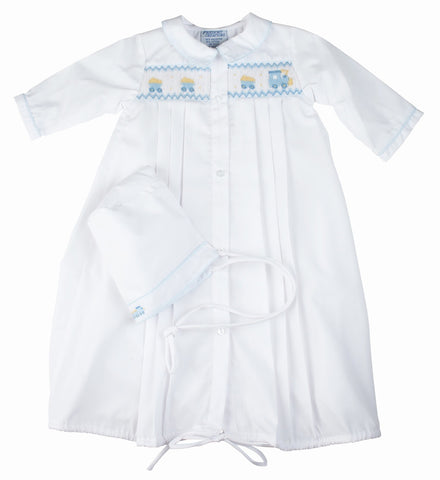 e42478162 Buy Train Smocked Take Me Home Gown with Hat at Oma's Classic ...
