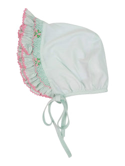 Mint Hand Smocked Bonnet