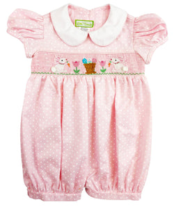 Easter Bunnies Baby Girl Romper Romper Marco & Lizzy - Oma's Classic Children's Clothing