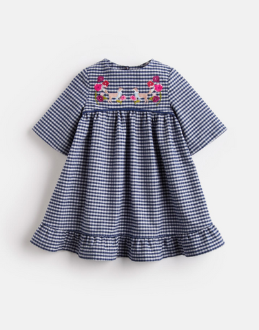 Adaline Peplum Frill Dress Dress Joules - Oma's Classic Children's Clothing