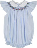 Argyle Smocked Bubble Bubble Feltman Brothers - Oma's Classic Children's Clothing