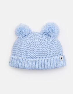 Double Pom Pom Knitted Hat Hair Accessories Joules - Oma's Classic Children's Clothing