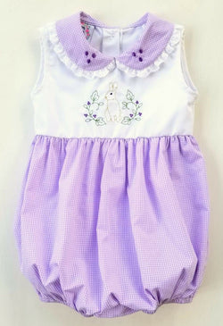 Bunny Hop Bubble Bubble Sugar Plum Smocks - Oma's Classic Children's Clothing
