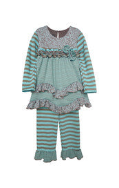 Morning Sky 2 Piece Girl Sets Isobella and Chloe - Oma's Classic Children's Clothing