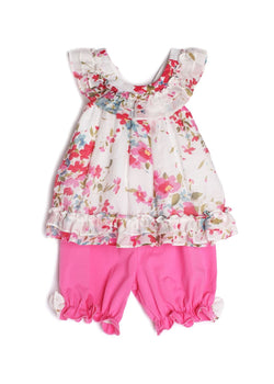 Petaled Pink Bloomer Set