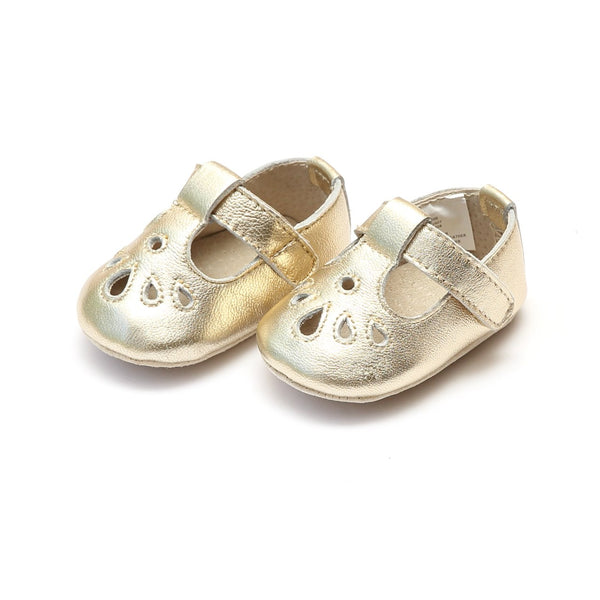 Carina Leather Teardrop Crib Mary Jane Shoes L'Amour - Oma's Classic Children's Clothing