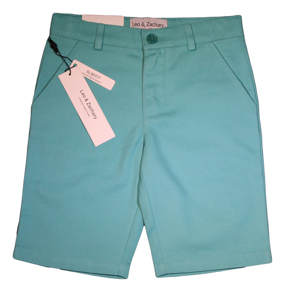 Slim Fit Green Cotton Shorts