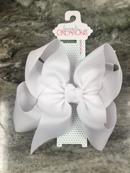 "7.5"" Grosgrain Bow on French Clip Hair Accessories Beyond Creations - Oma's Classic Children's Clothing"