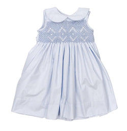 Pastel Smocked Bodice Dress