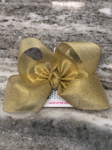"6.5"" Bow on Alligator Clip Hair Accessories Beyond Creations - Oma's Classic Children's Clothing"