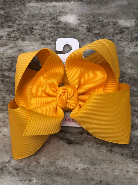 "5.5"" Bow on Alligator Clip Hair Accessories Beyond Creations - Oma's Classic Children's Clothing"