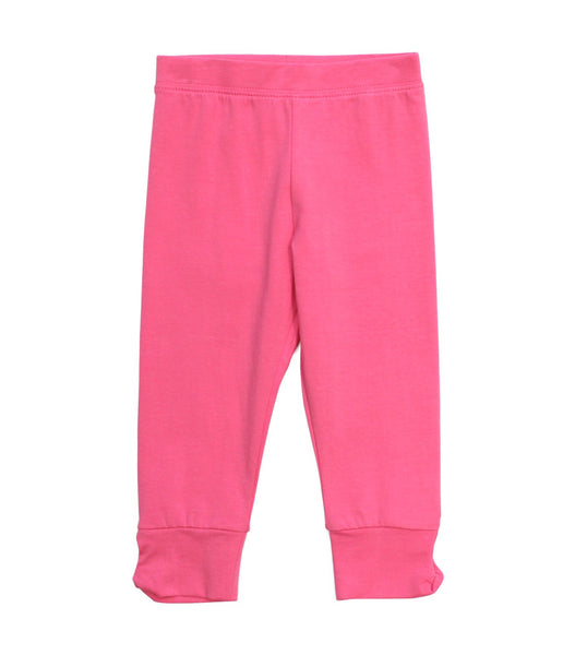 Capri Legging with Twisted Cuff Leggings Globaltex Kids - Oma's Classic Children's Clothing