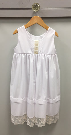 White Batiste Beach Dress Dress LaJenns - Oma's Classic Children's Clothing