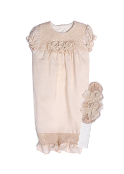 Concord Layette Sack & Headband Gowns Isobella and Chloe - Oma's Classic Children's Clothing
