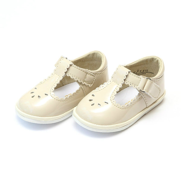 Dottie Scalloped T-Strap Mary Jane Shoes L'Amour - Oma's Classic Children's Clothing