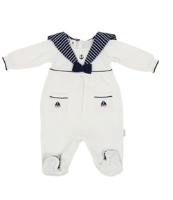 Little Boater Knit Sailor Suit w/Beret