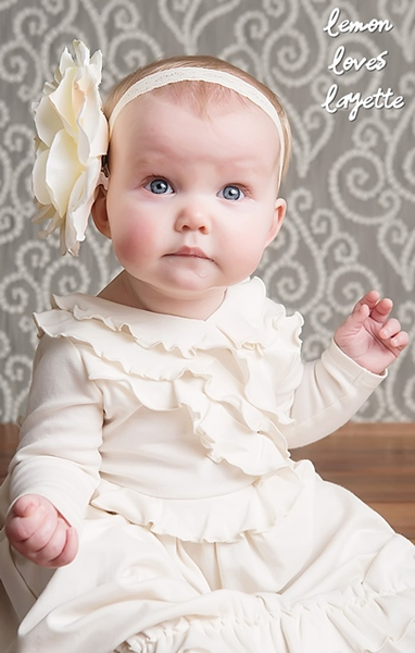 Jenna Gown Gowns Lemon Loves Layette - Oma's Classic Children's Clothing