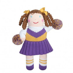 "7"" Purple/Gold Cheerleader Rattle Toys & Gifts Zubels - Oma's Classic Children's Clothing"