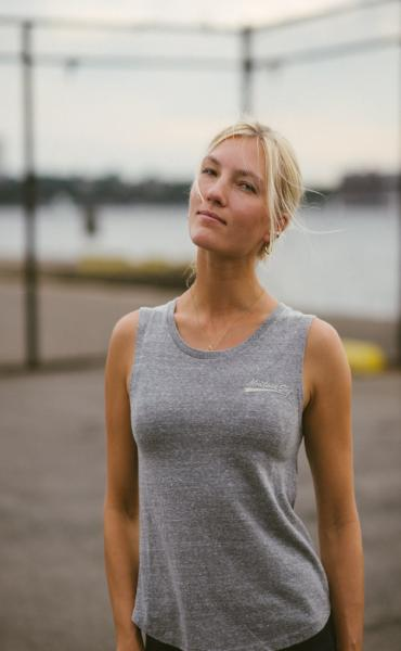 Women's Montauk Sky Grey Tank Top