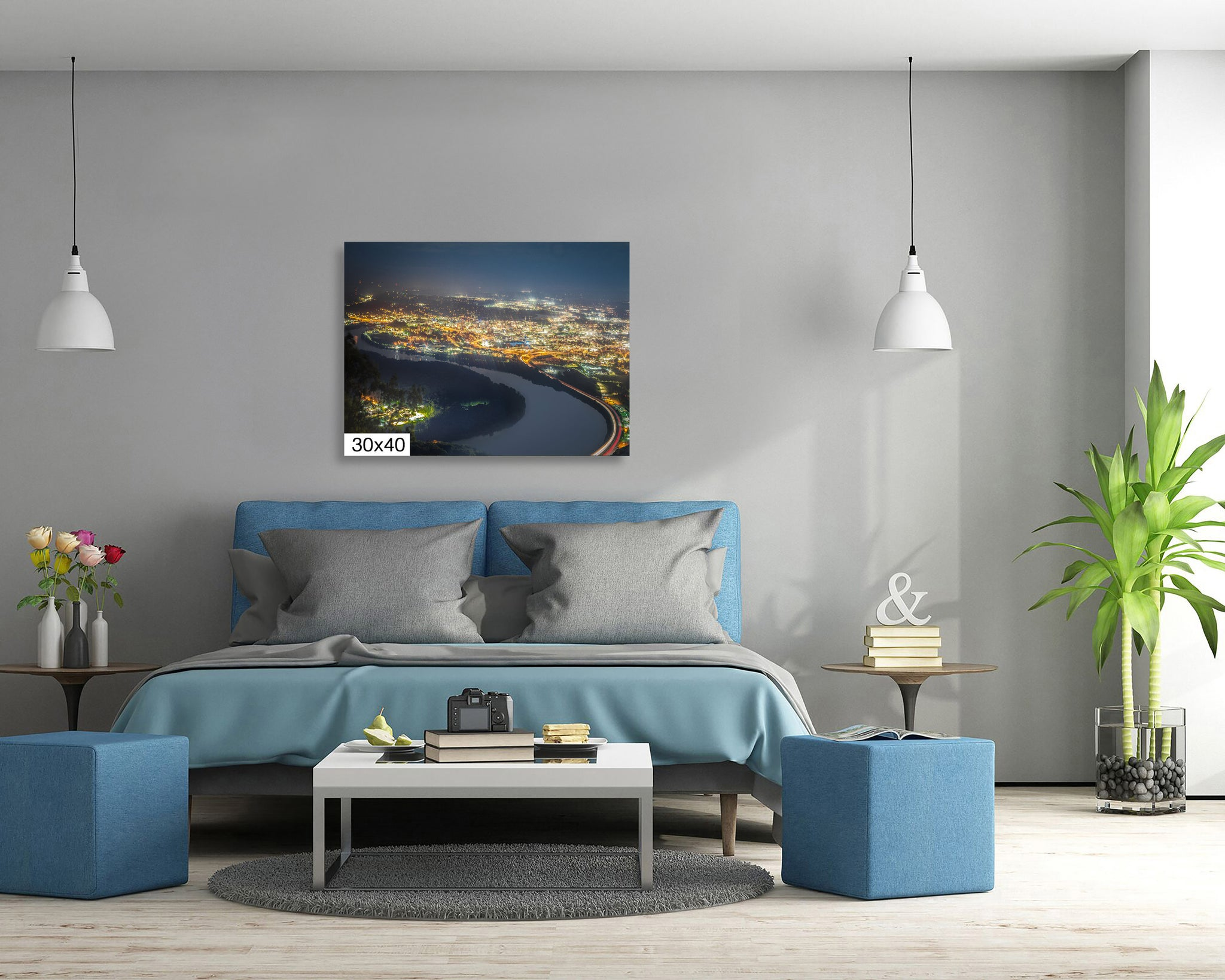 Chattanooga Skyline Photography Metal Print Wall Art Picture Home Decor Poster Landmark Bedroom Livingroom