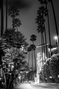 Beverley Hill Hotel Los Angeles California Black and White Canvas Print Metal Art Cityscape Landmark Bedroom Livingroom wall art decor home