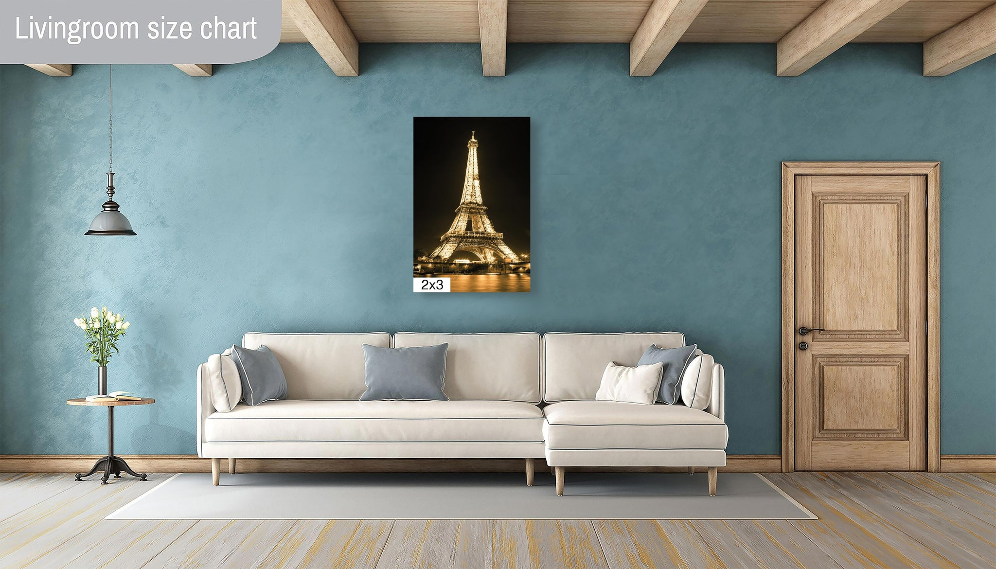 Eiffel Tower Paris France Gold Canvas Metal Print Wall Art Picture Home Decor Poster Landmark
