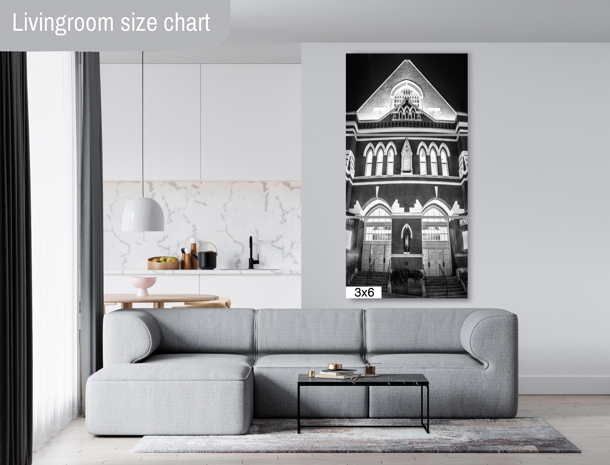 The Ryman Nashville City Photography Metal Print Wall Art Picture Home Decor Poster Landmark Bedroom Livingroom