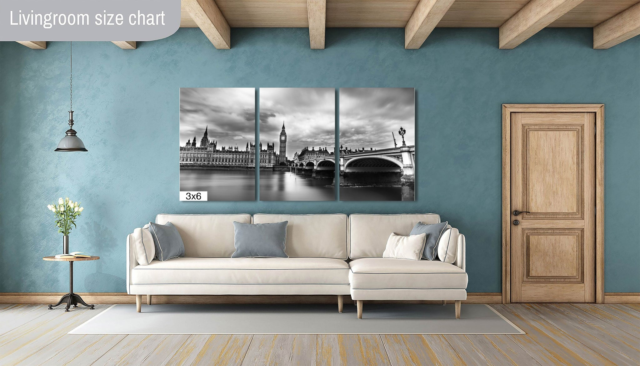 Big Ben Houses of Parliament London England B&W Black and White Downtown Photography Canvas Metal Print Bedroom wall art poster picture home