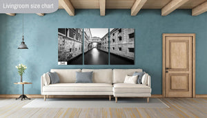 Bridge of Sighs Venice Italy Canal Canvas Photography Metal Print Wall Art Picture Home Decor Poster Landmark Bedroom Livingroom
