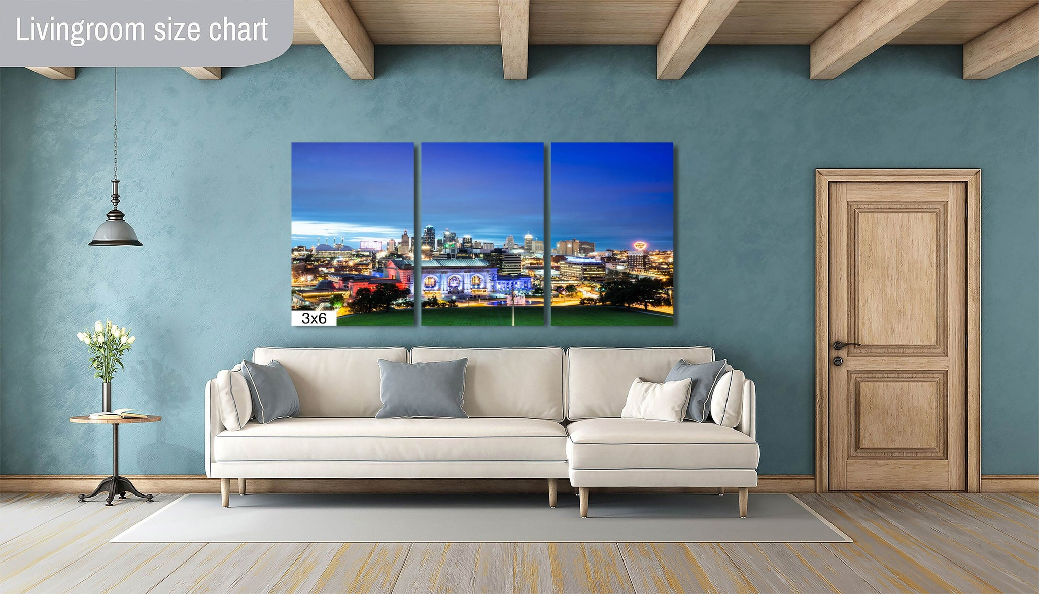 Kansas City Skyline Downtown Photography Canvas Metal Print Livingroom Bedroom Sunset decor wall art home union station Missouri poster