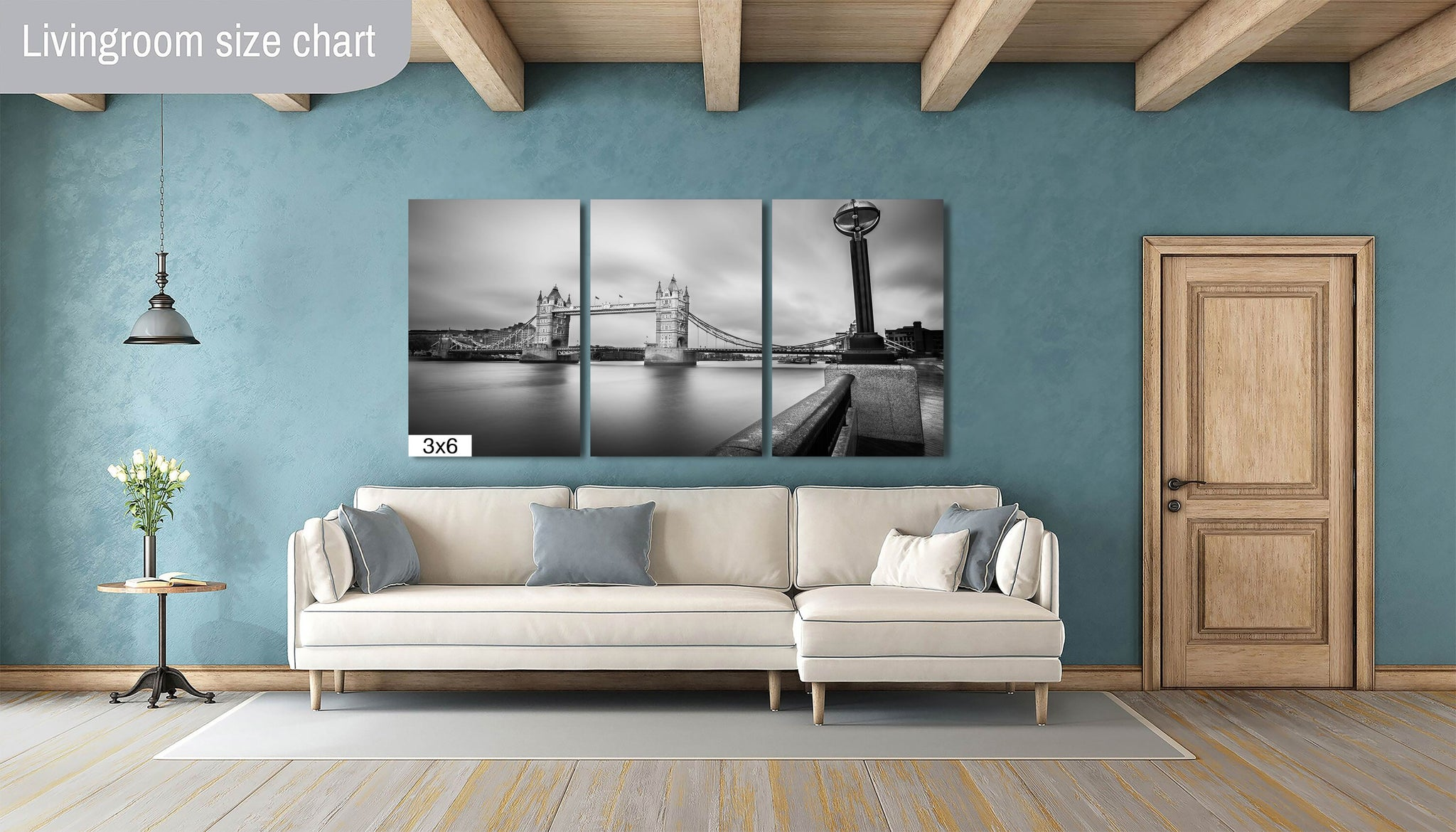 Tower Bridge Downtown London England Canvas Print Metal Art Cityscape Landmark Bedroom Livingroom wall art decor home poster