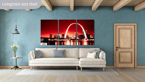 St Louis Arch Gateway West Downtown Skyline Canvas Photography Metal Print Wall Art Picture Home Decor Poster Landmark Bedroom Cityscape