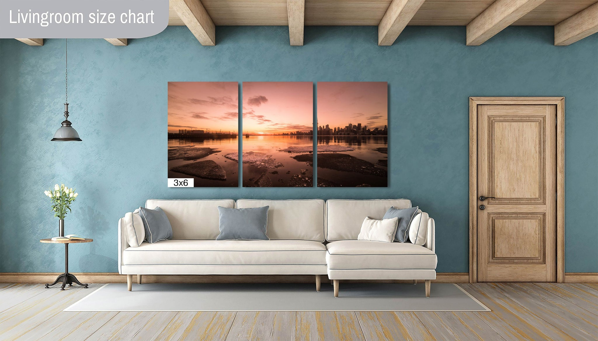 Toronto Downtown Skyline Rose Canvas Photography Metal Print Wall Art Picture Home Decor Poster Landmark Bedroom Livingroom