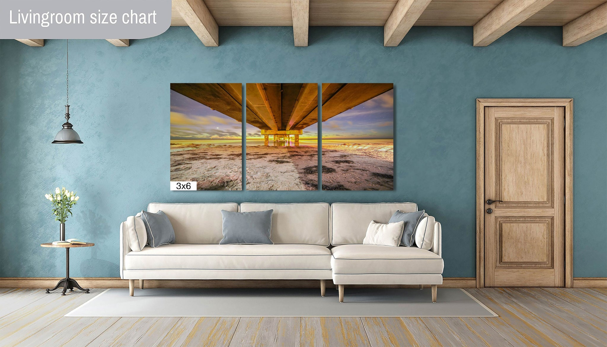 Pier 60 Clearwater Beach Florida Sunset Sandy Landmark Canvas Print Metal Wall Art Poster Bedroom Livingroom Wall Decor Home Seascape
