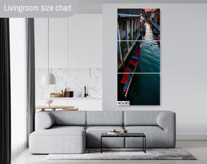 Venice Italy Gondola Sunset Skyline Canvas Photography Metal Print Wall Art Picture Home Decor Poster Landmark Bedroom Livingroom