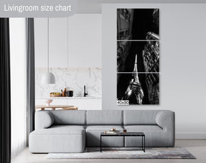 The Eiffel Tower Downtown Paris Cityscape Canvas Photography Metal Print Wall Art Picture Home Decor Poster Landmark