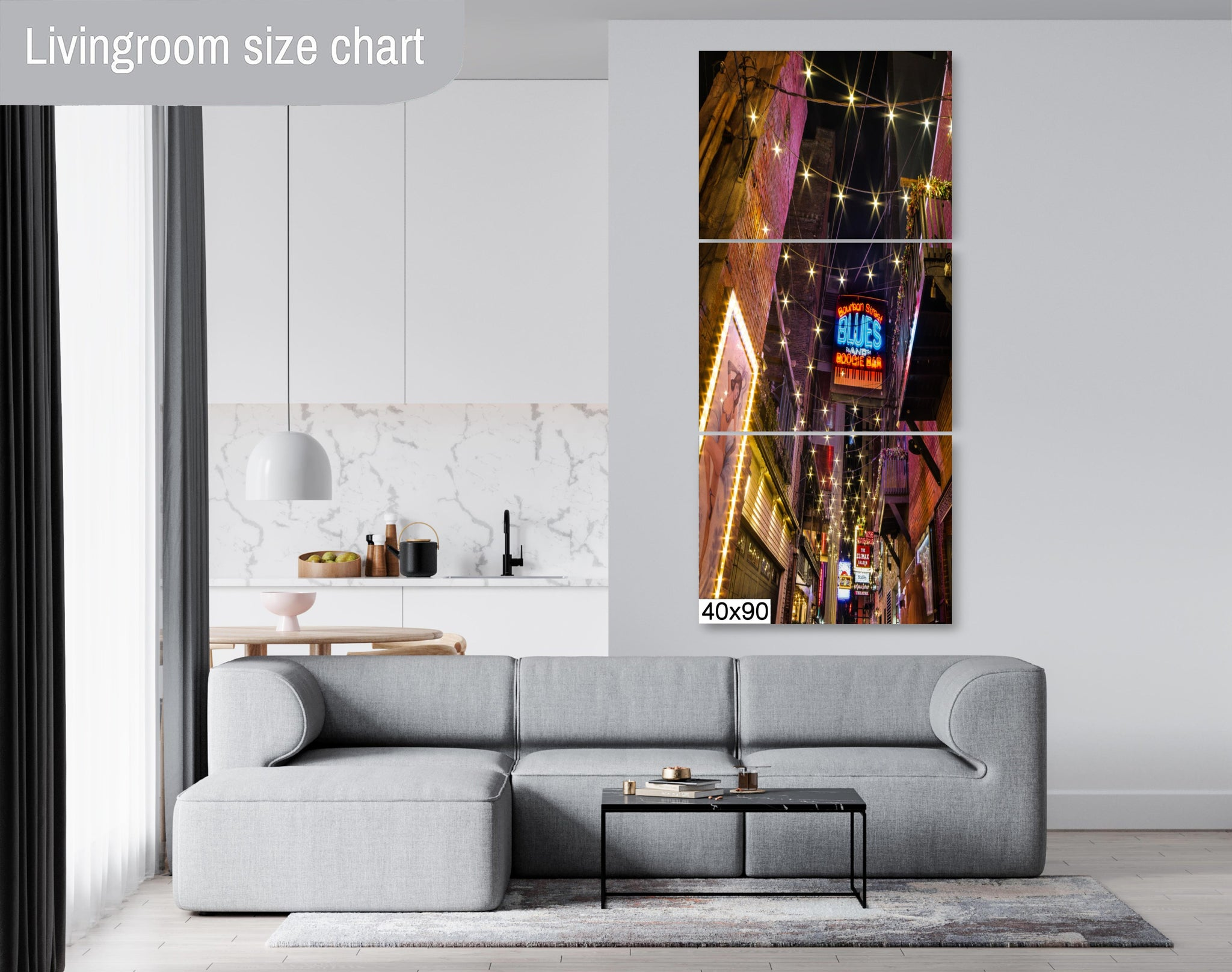 Printer's Alley Nashville City Photography Metal Print Wall Art Picture Home Decor Poster Landmark Bedroom Livingroom