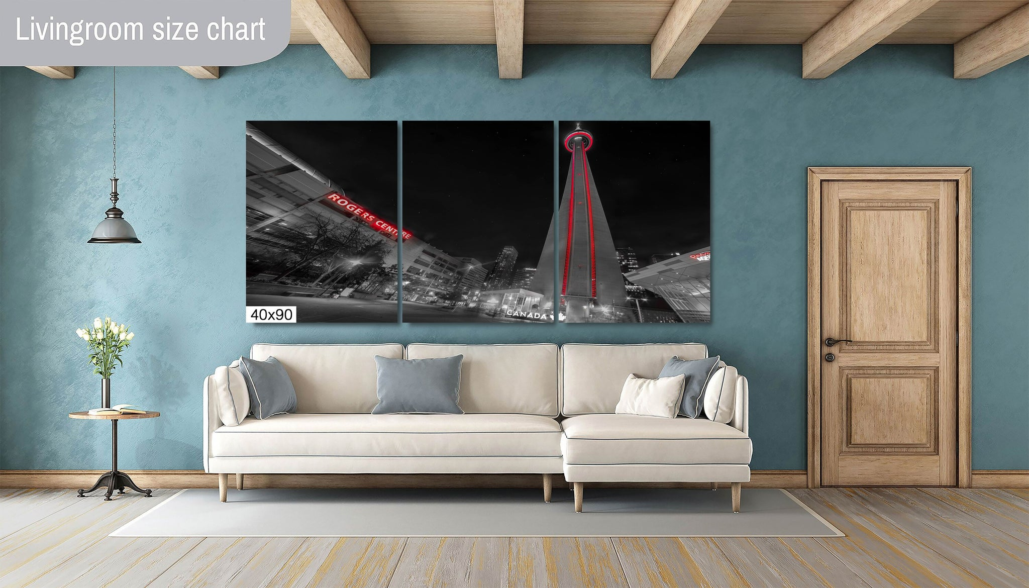 CN Tower Downtown Toronto Canada Canvas Photography Metal Print Wall Art Picture Home Decor Poster Landmark Bedroom Livingroom