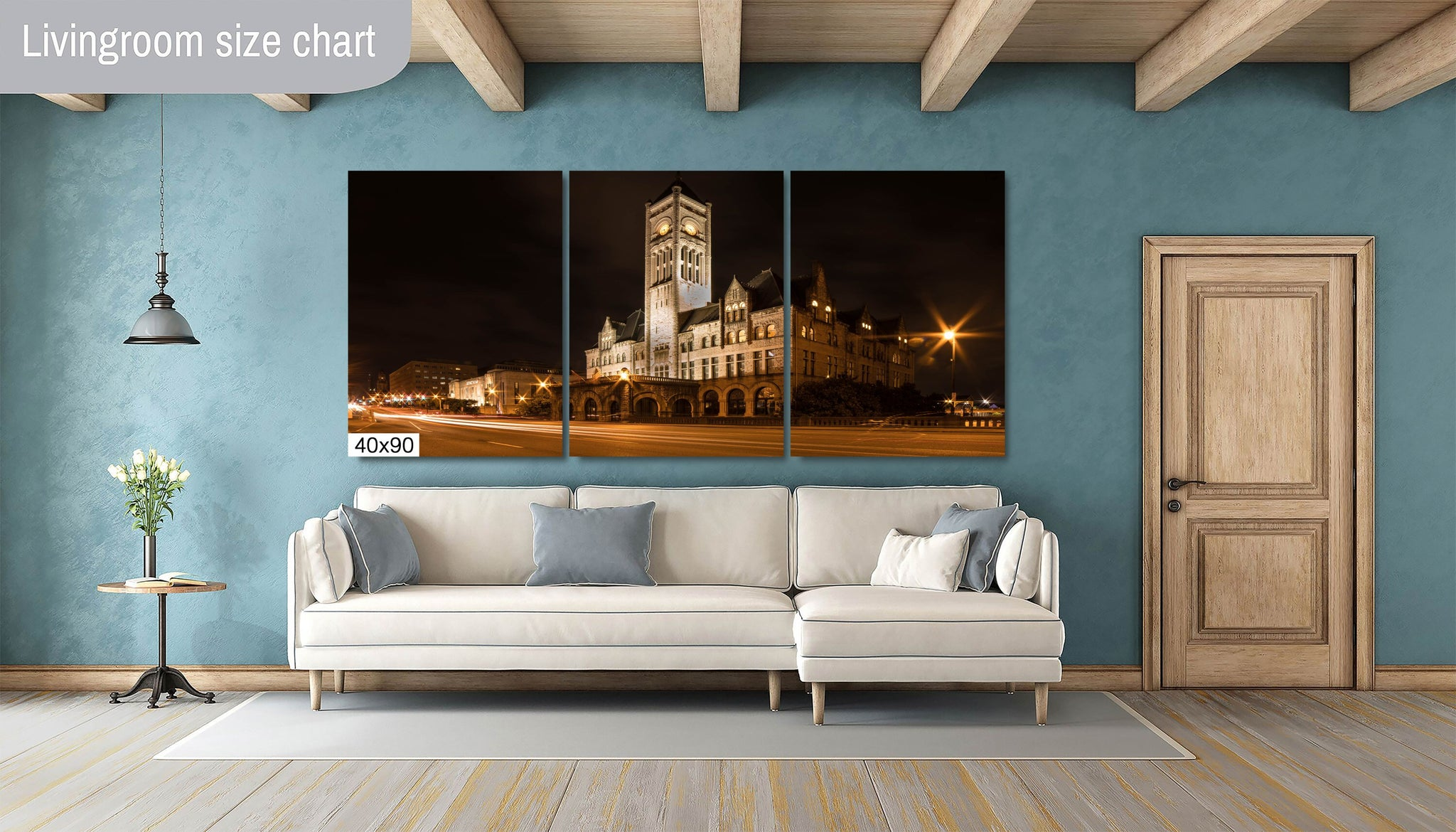 Union Station Nashville City Photography Metal Print Wall Art Picture Home Decor Poster Landmark Bedroom Livingroom
