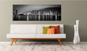Chicago Skyline Sears Tower Hancock Building Lakeshore Drive Skyscraper Canvas Metal Print Wall Art Picture Home Decor Poster Landmark