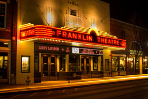 Franklin Theater Downtown Nashville Tennessee Photography landmark Canvas Metal Print Bedroom Sunset wall art poster bank