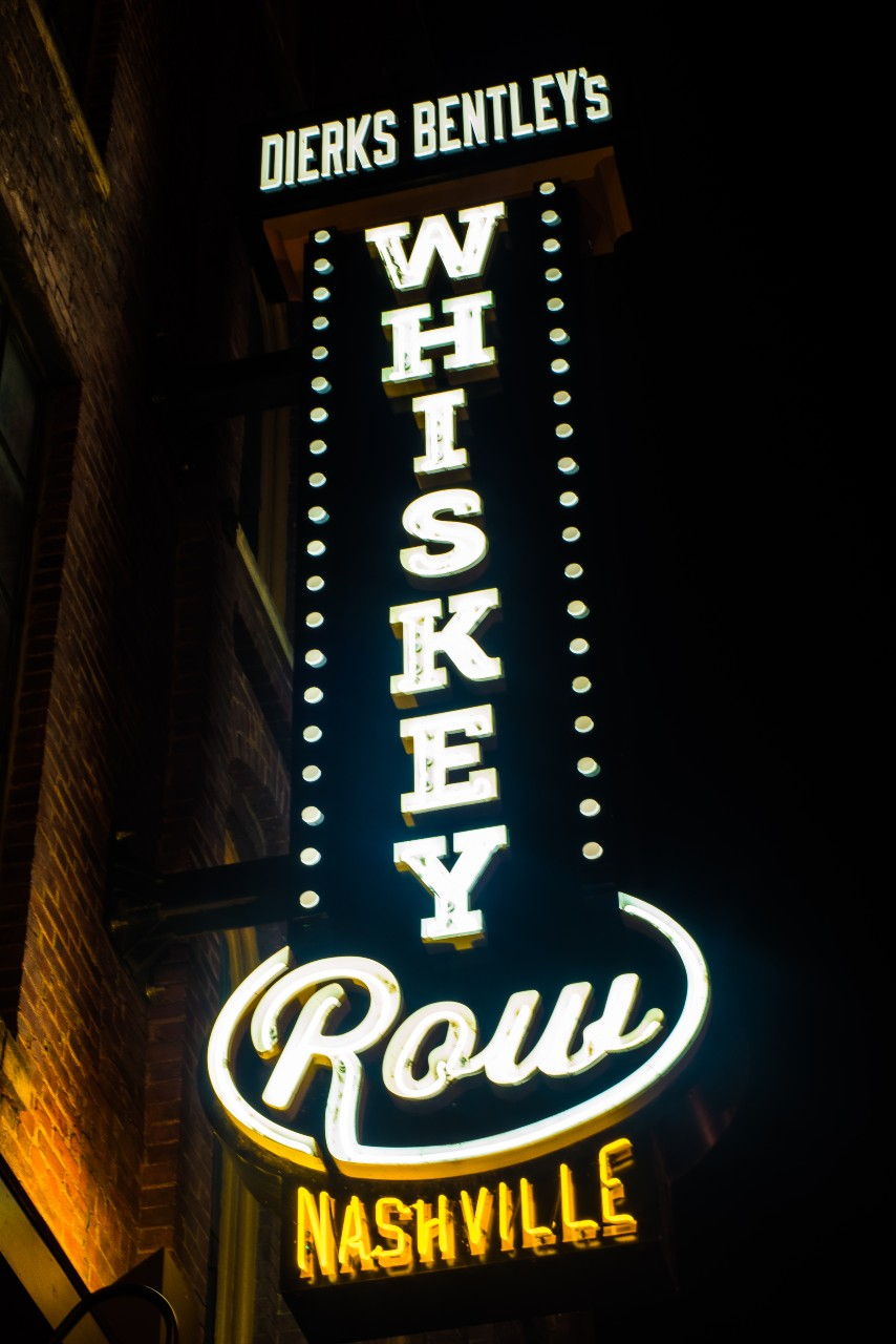 Honky Tonk Sign Whiskey Row Nashville City Photography Metal Print Wall Art Picture Home Decor Poster Landmark Bedroom Livingroom
