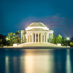 Jefferson Memorial Tidal Basin Skyline Canvas Photography Metal Print Wall Art Picture Home Decor Poster Landmark Bedroom Livingroom