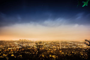 Los Angeles Skyline from Griffith Observatory California Canvas Print Metal Art Cityscape Landmark Bedroom Livingroom wall art decor home
